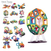 Vavis Tovey 3D Magnetic Blocks Educational DIY Accessory Mini Sets Building Magnet Designer Constructor pulling Toys kids Gift