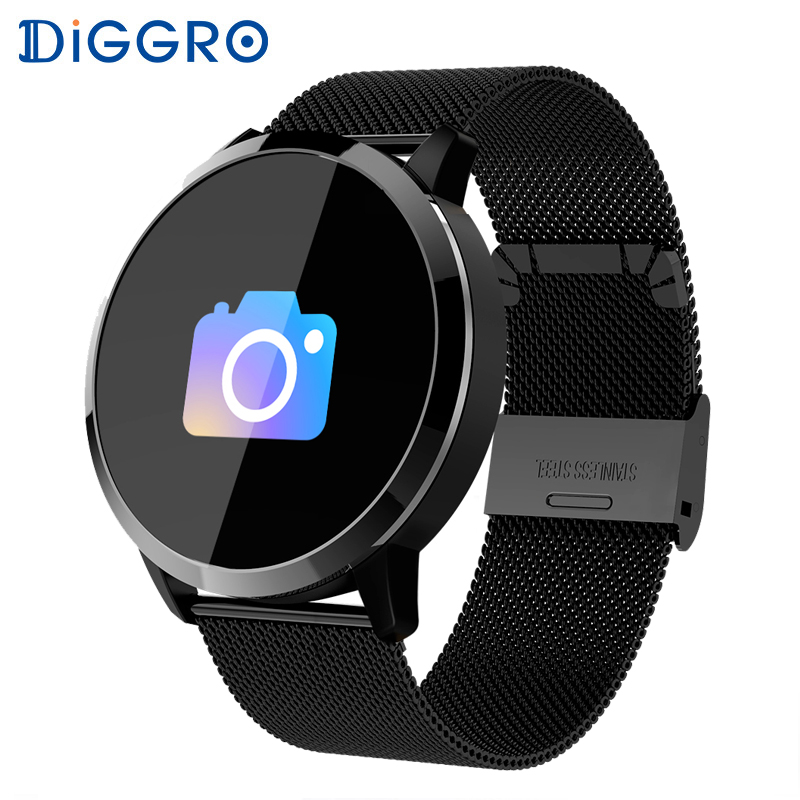 Diggro Q8 Smart Watch OLED Color Screen Waterproof Fitness tracker women Fashion Heart Rate Monitor Smartwatch for Android iOS