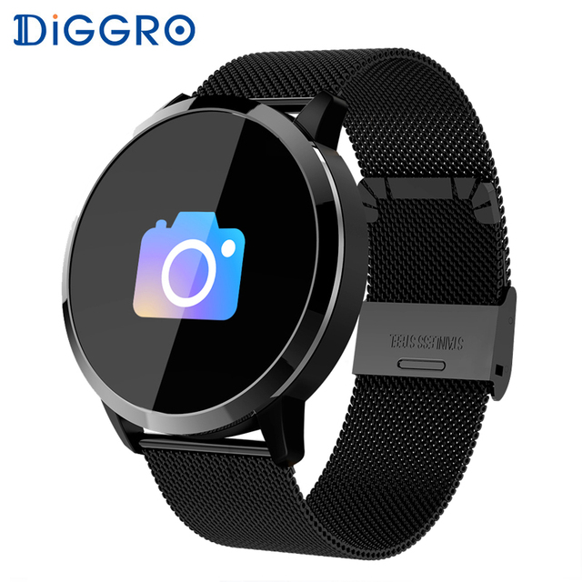 Diggro Q8 0.95 inch Smart Watch Waterproof Fitness  Blood Oxygen Heart Rate Monitor Information Push for Android iOS