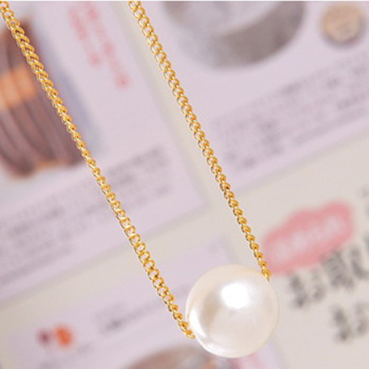Collares 2018 New Women Collier Perle Bijouterie Rushed Trendy Simple Jewelry Short Necklace Color Thin Chain Choker Necklaces