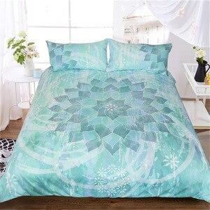 Image 1 - CAMMITEVER Lotus Mandala Print Beddengoed Set Queen Size Bloemmotief Dekbedovertrek Bohemian Beddengoed Lotus Bed Set