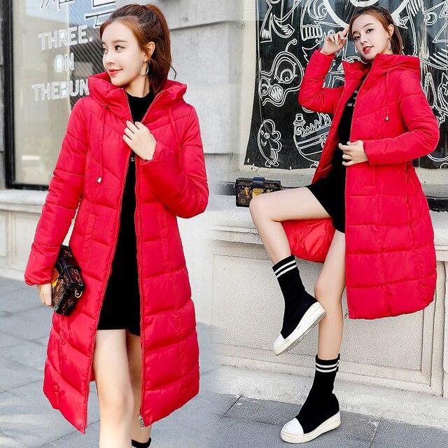 Plus size 6XL Down jackets 2018 Fashion Women Winter Coat Long Slim Thicken Warm Jacket Down Cotton Padded Jacket Outwear Parkas 3