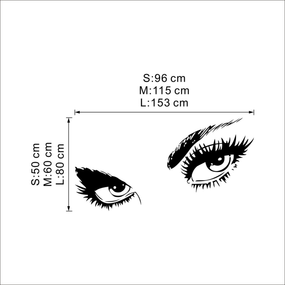 Sexy eyes wall sticker
