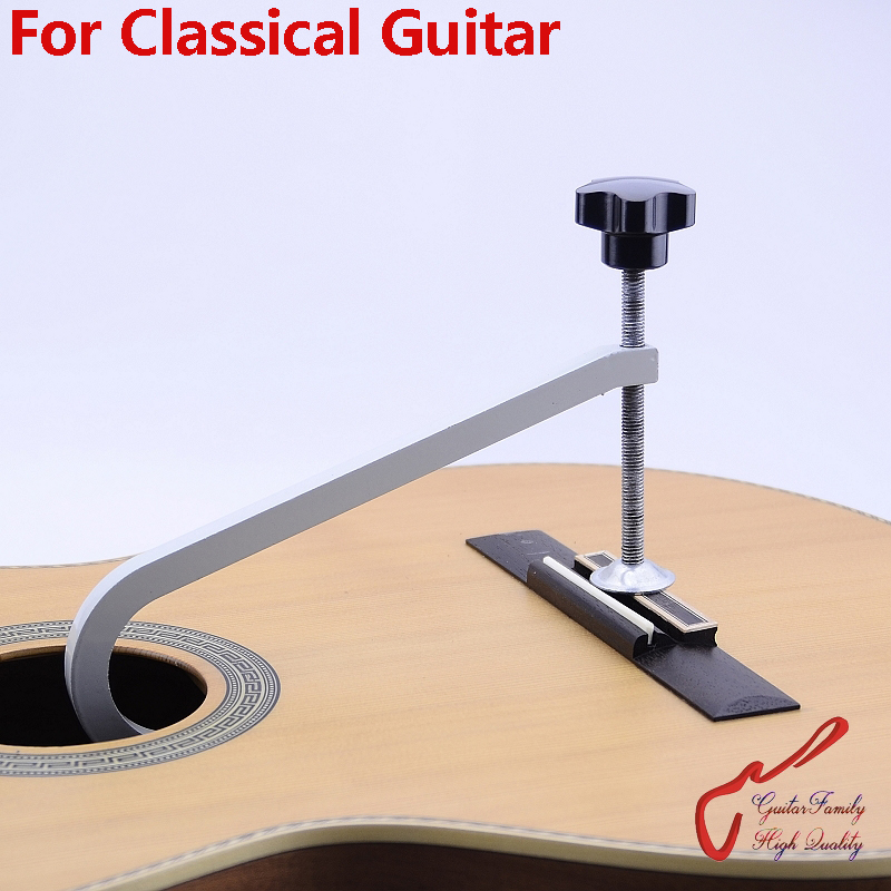 GuitarFamily Cast Steel Deep Throat Clamp For Classical Guitar Bridge
