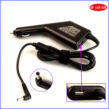 19V 3.42A 65W Laptop Car DC Adapter Charger + USB(5V 2A) for ASUS ZenBook Prime U38N U38N-DS81T U38DT UX302 UX302LA
