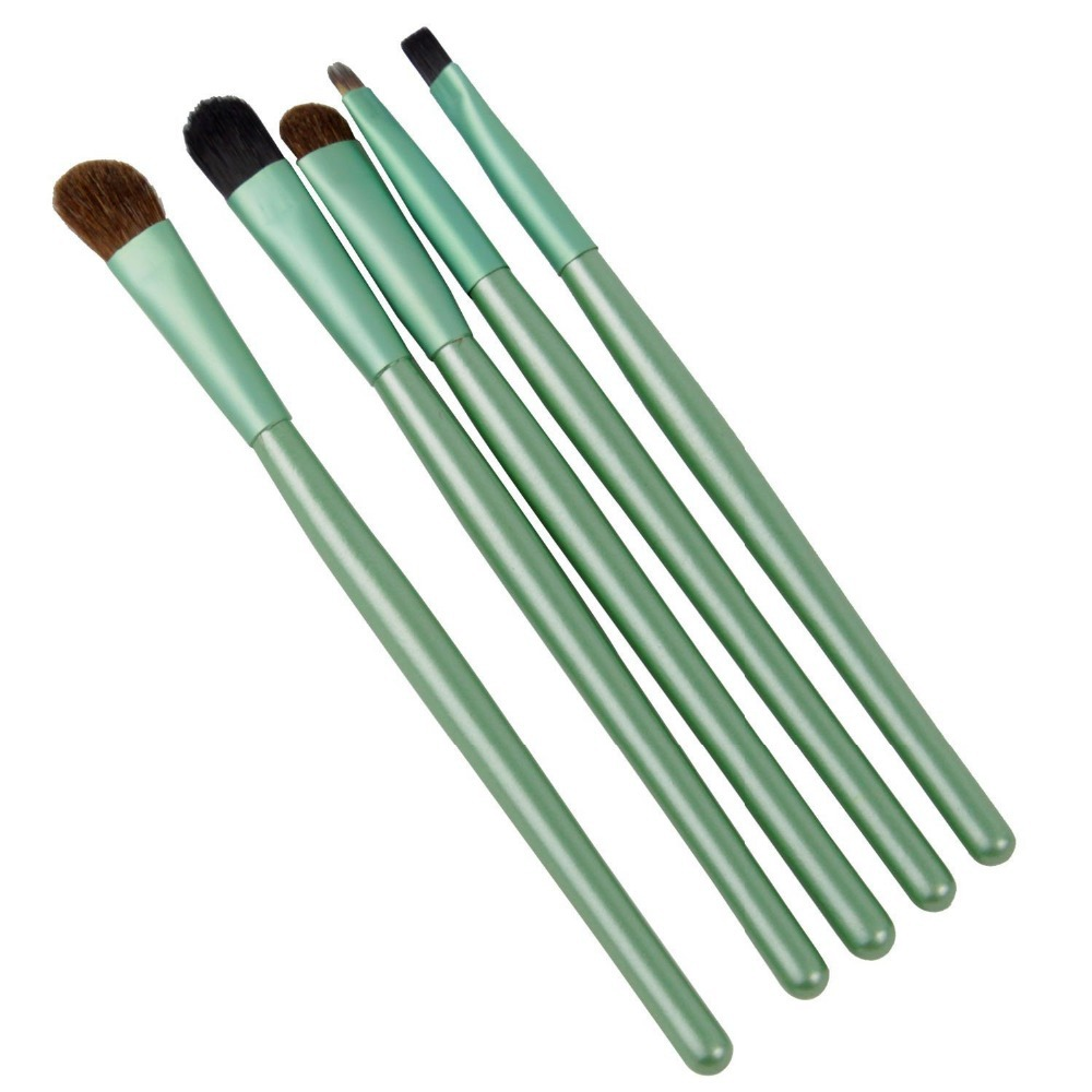 Crazy Cart Portable Professional Makeup Make Cosmetic Brushes Set Kits Eyeshadow Eyebrow Eyeliner Lip (Green) - store