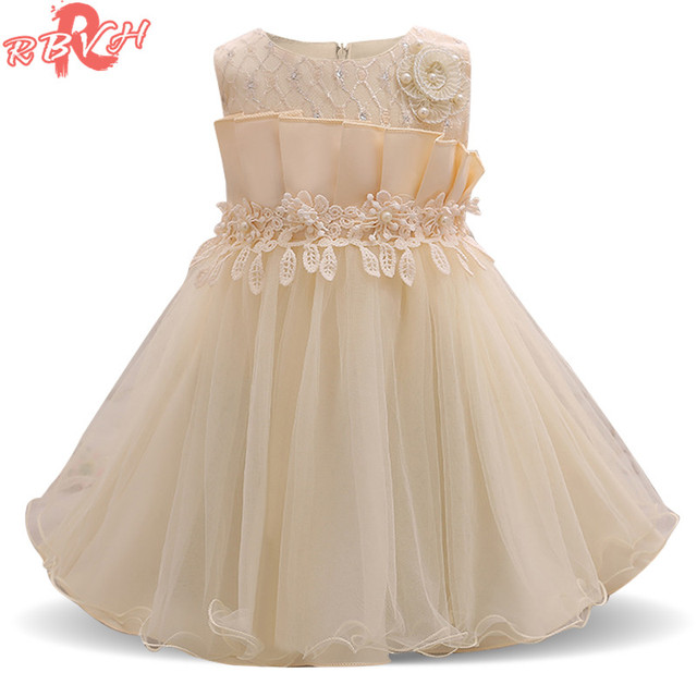 ea04764288ec2 Robe d été Pour Fille Fleur De Mariage Bébé Fille 1 Année D anniversaire