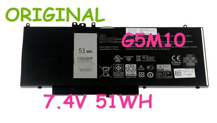original battery 7.4V 51WH FOR Dell G5M10 8V5GX 7.4V 51WH LAPTOP BATTERY 51wh original new laptop battery g5m10 for dell latitude e5450 e5550 notebook 15 6 g5m10 8v5gx free shipping