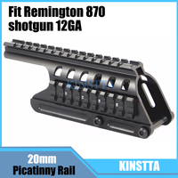 KINSTTA Tactical 20mm Double Picatinny Rail Mount System Fit For Remington 870 RM870 Shotgun 12 Ga