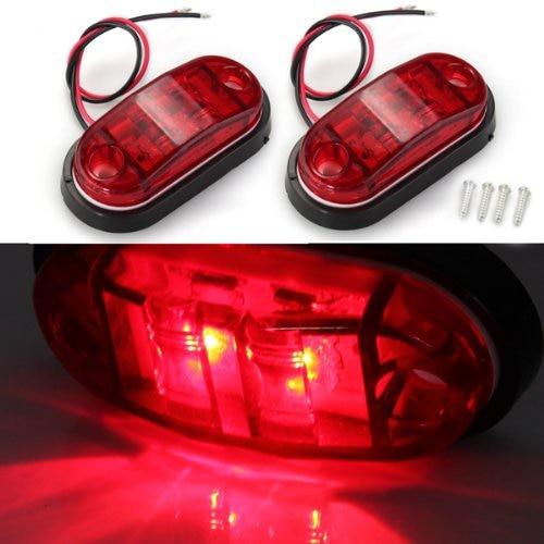 TOYL 2 * Bombilla LED Lmfor Luz Lateral Rojo Piraa for Coche Camiones