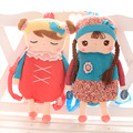 Бесплатная доставка 1 шт. 46 см праздничная распродажа детей подарок симпатичные сладкий ангела metoo рюкзак дети плечо девушки мешок школы плюшевые игрушки куклы