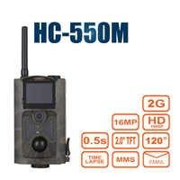Night Vision Hunting Camera Photo Trap HC 550M Chasse Wild Hunter Game Trail Sensor Gsm Mms Infrared Wildlife Camera 120 Degrees