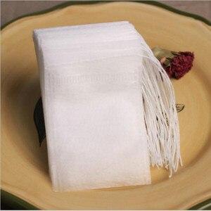 Image 5 - 100 יח\חבילה שקיות תה 5.5x7 CM ריק ריחני תה שקיות עם מחרוזת לרפא חותם מסנן נייר הרב Loose תה Bolsas דה te