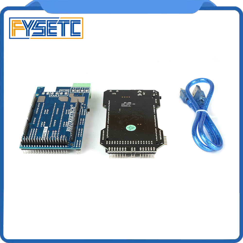 3D Printer Parts RE-ARM 32 Bit Control Board Upgrade Mega 2560 R3 Motherboard + Ramps 1.5 Expansion Control Panel3D Printer Parts RE-ARM 32 Bit Control Board Upgrade Mega 2560 R3 Motherboard + Ramps 1.5 Expansion Control Panel