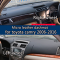 For toyota camry 2006-2016 Micro Leather Dashmat Dashboard Cover Prevent Sunlight Pads Dash Mat2007 2011 2012 2013 2014 LHD+RHD