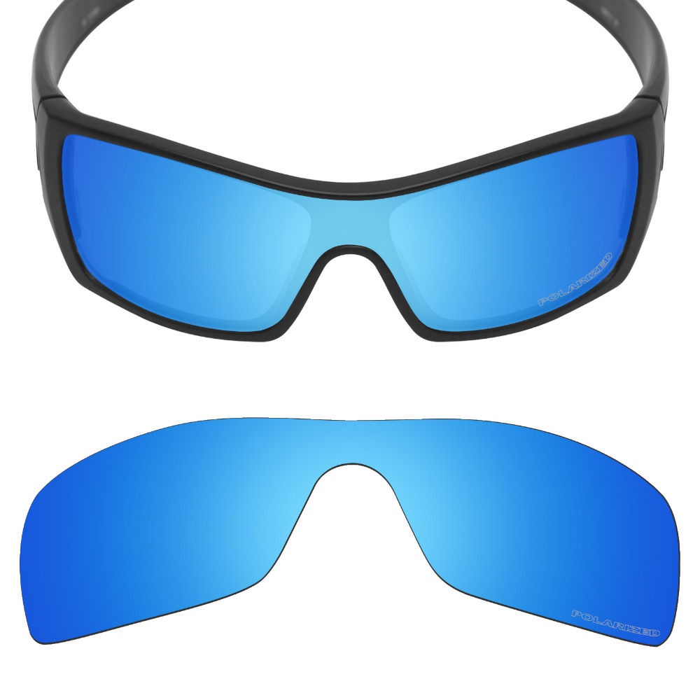 Mryok+ POLARIZED Resist SeaWater Replacement Lenses For Oakley Batwolf Sunglasses Ice Blue