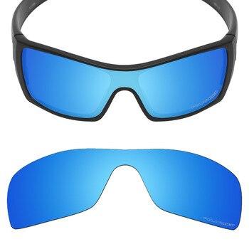 03e1a6581 Mryok + polarizado resistir agua reemplazo de lentes Oakley Batwolf gafas  de sol azul hielo