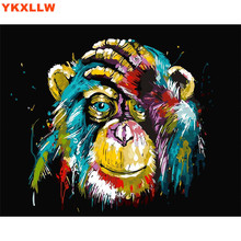 Owl Cat Lion Gorilla Diy oil painting by numbers abstract acrylic paint Animal Canvas decor coloring number drawing