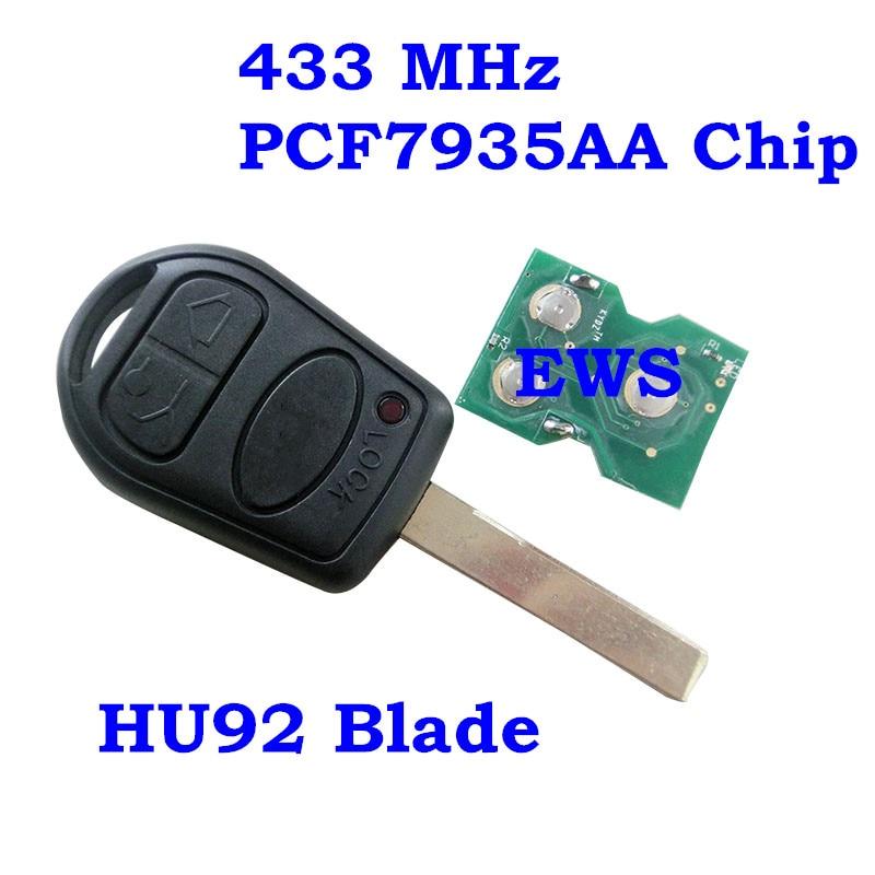 Rmlks Smart Remote Key Fob 3 Taste 315 Mhz 433 Mhz Id44 Pcf7935aa Chip Fit Für Land Rover Range Rover 2002-2006 Uncut Hu92 Blade 100% Garantie