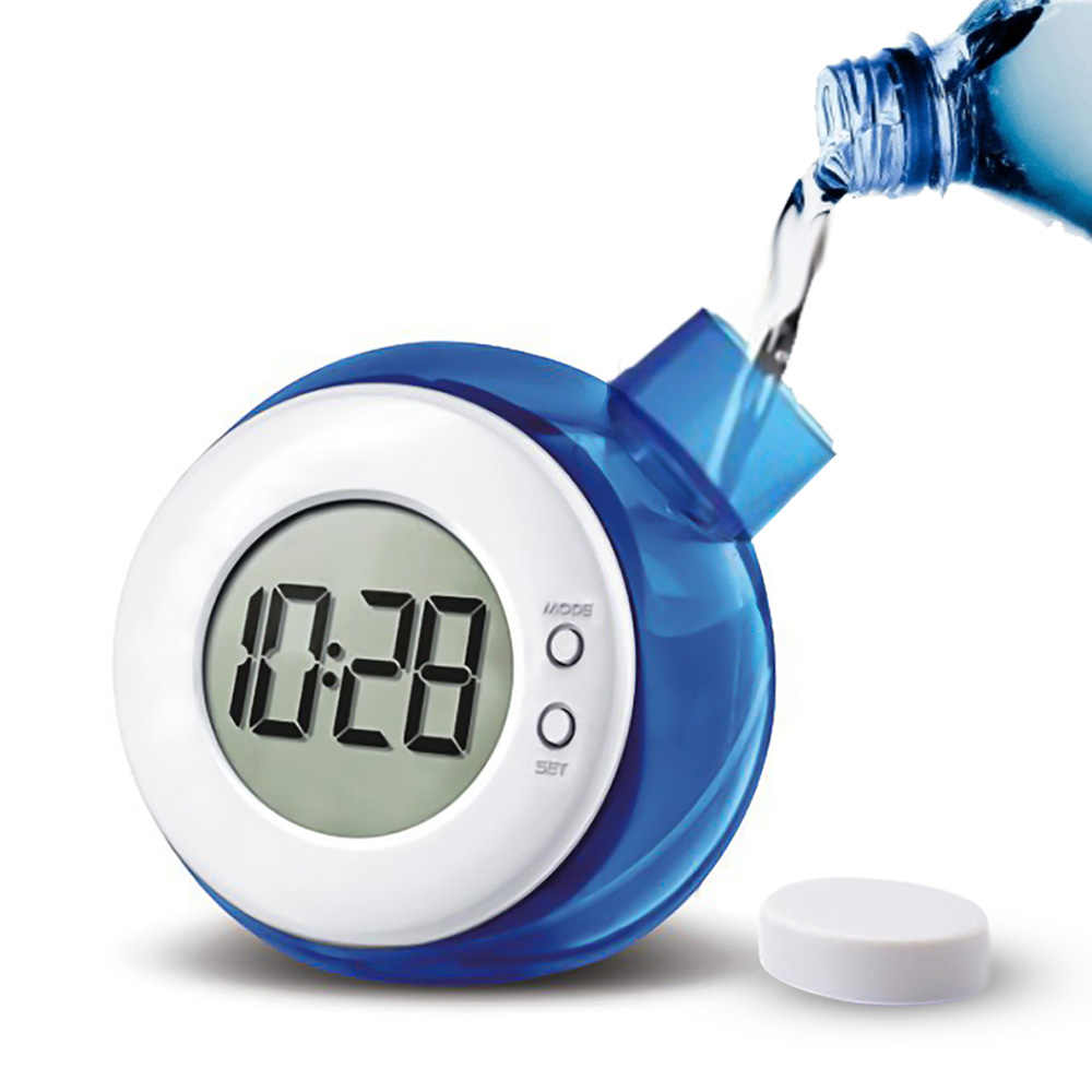Creative Water Powered Clock Child Desk Table Clock Smart Water Element Mute Digital Clock With Calendar Home Decor Kid Gifts