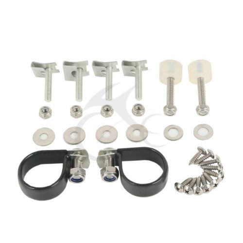 For Harley Touring Lower Vented Fairings Mounting hardware Kit Clamps Clips 83 Electra Glide Road King Street Glide Touring 83-1