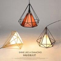 Creative Restaurant Lights Retro Light Scandinavian Loft Pyramid Lamp Birdcage Pendant Lights Modern Iron Minimalist LED