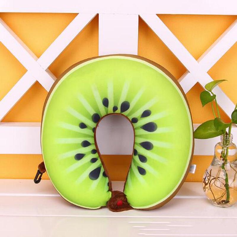 Enthousiast Hot Koop Fruit U Vormige Kussen Kussen Nanodeeltjes Bescherming Nekkussen Auto Reizen Massage Kussen 3d Friut Kussen Gebruiksgoederen