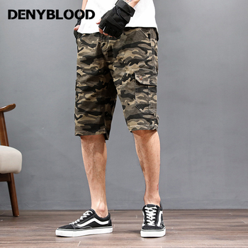Denyblood Jeans Plus Size Mens Shorts 2018 Summer New Arrival Camouflage Cargo Shorts Chinos Capris511 Beachshorts Bermuda 511