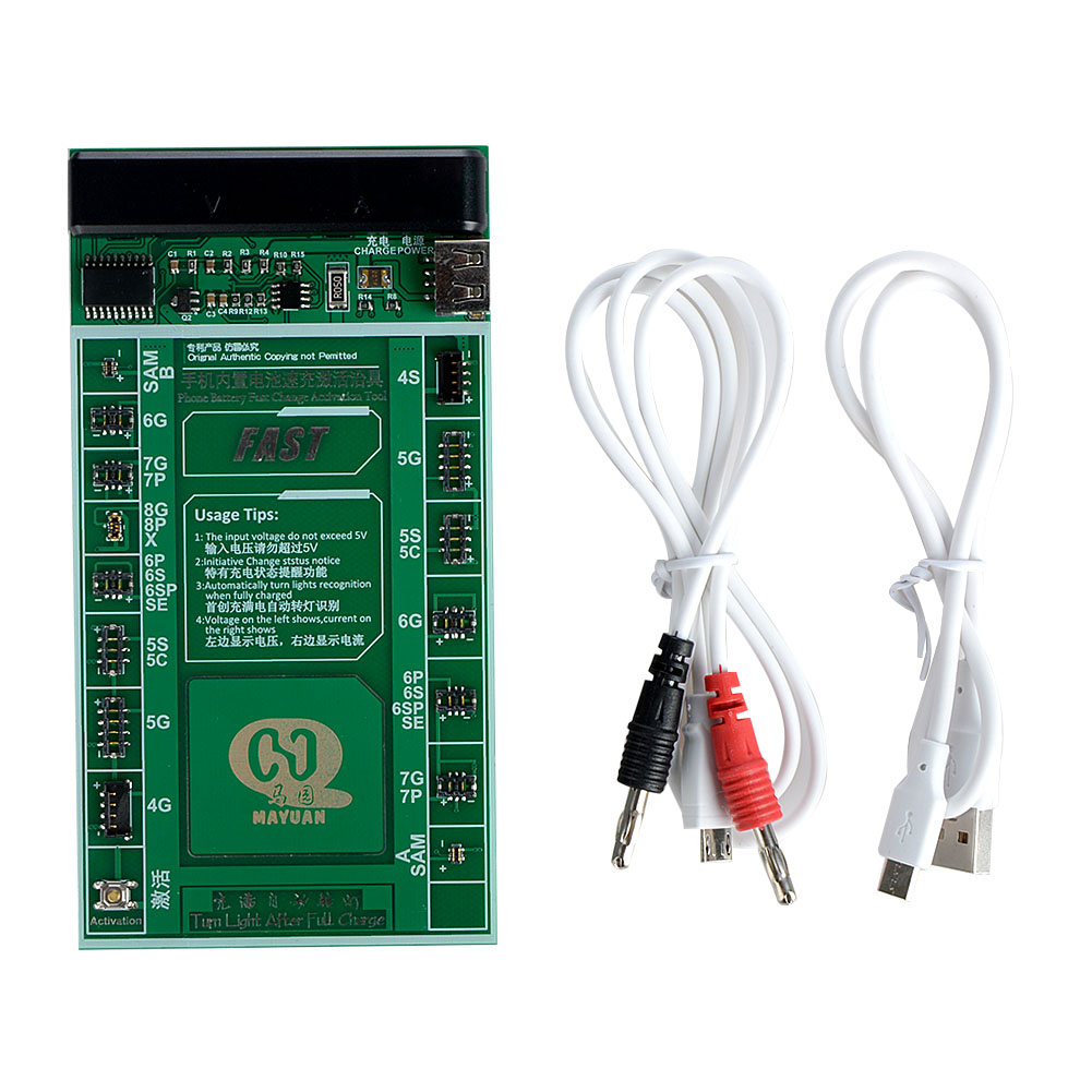For IPHONE 4 5 5S SE 6 6P 6S 6SP 7 7P 8 8P X Battery Charging Activated Cable Power Supply Intelligent Protection Line