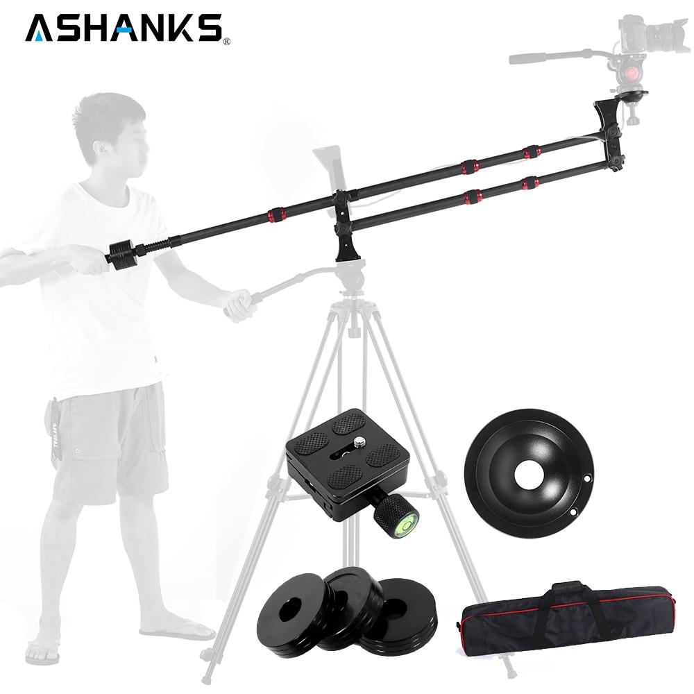 Ashanks Photography MINI jib crane Carbon Fiber Portable Pro DSLR Video Camera Jib Arm Crane Standard Version+Bag free shipping ashanks small photography studio kit
