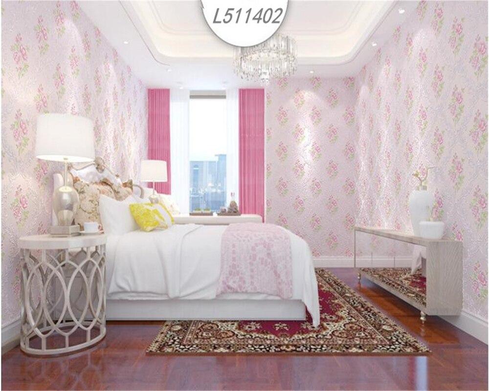 Beibehang style européen pastorale non tissé papier peint chaud plein étage 3D salon TV mur papel de parede papier peint 3d