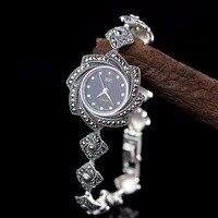 New Arrivals HF Lucky Silver Bracelet Watch Top Quality Real Silver Watch Real Pure Silver Bracelet Watches Real Silver Bangle