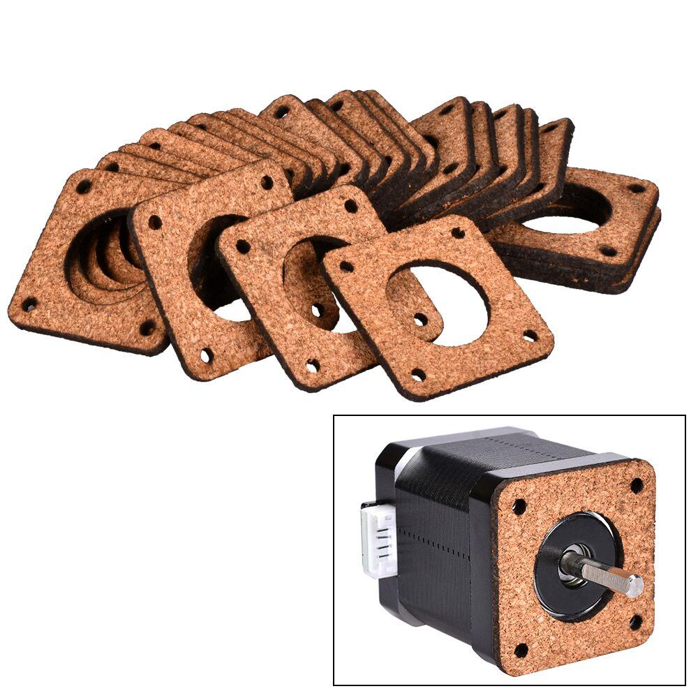 1/5PCS Nema 17 Stepper Damper Nema17 Stepper Motor Damper Cork Gasket Reprap Isolator 42 Motor Absorber For 3D Printer Motor