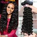 Перуанский Глубокая Волна Тело Ткать Queen Hair Company 3 шт. Перуанский Девы Волос Свободные Глубокая Волна Перуанские Курчавые Волосы Более волна