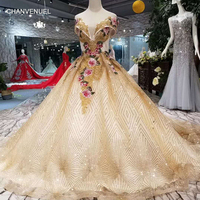 LSS158 color flowers party dresses with shiny lace train off the shoulder sweetheart evening dresses long ball gown prom dress