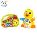 Multifuncional Dedo De Piano com Música/História Bateria Crianças Operadas EQ Batendo Brinquedos Educativos para Bebês Pato Amarelo