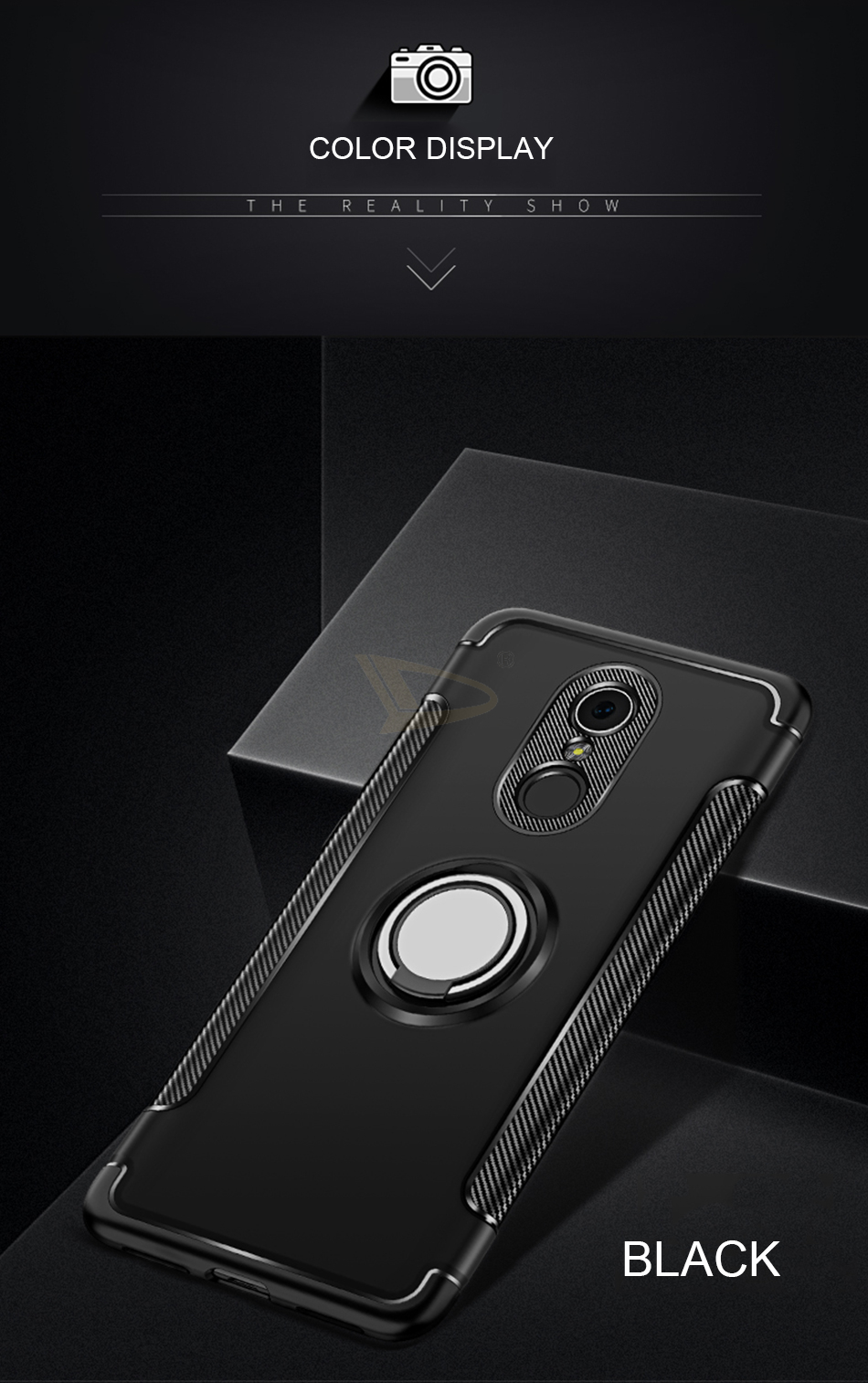 HTB1kjGiKf5TBuNjSspcq6znGFXaN Luxury Soft Shockproof Case For Xiaomi Redmi 4X Note 4 4X Full Cover For Redmi 5 PLus Note 7 Pro 6 6A Hard PC Bracket Ring Cases