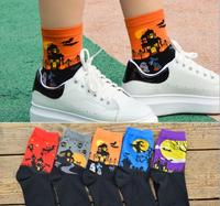 Recommend !! 12Pcs cartoon socks spring funny sock cute All Saints' Day cotton short socks SM888