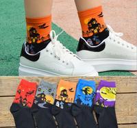 Recommend !! 12Pcs cartoon socks spring funny sock cute All Saints' Day cotton short socks SM888