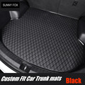 Индивидуальные автомобильные коврики для багажника  грузовая подкладка для Hyundai ix25 ix35 Tucson Santa Fe Elantra Sonata Solaris  полное покрытие  чехол  ковры  к...