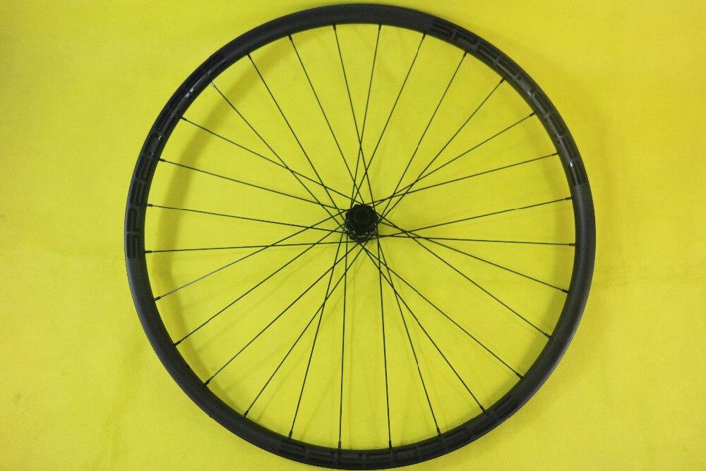 600g LIGHT WEIGHT 29er MTB XC 30mm asymmetric tubeless carbon front wheel 22mm deep center lock