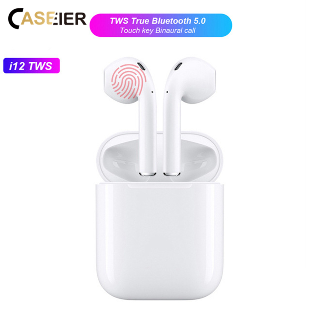 CASEIER <font><b>i12</b></font> <font><b>i12</b></font> <font><b>Pro</b></font> <font><b>TWS</b></font> Wireless Bluetooth Earphone HIFI Headset Earphone With Charging Box Auriculares bluetooth inalambrico image