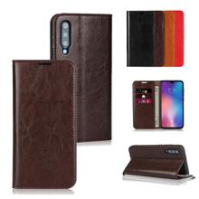 Luckbuy Business Style Genuine Leather Flip Wallet Phone Case Cover For Xiaomi Mi 9 SE Mi8 8 Slim Book Cases MI