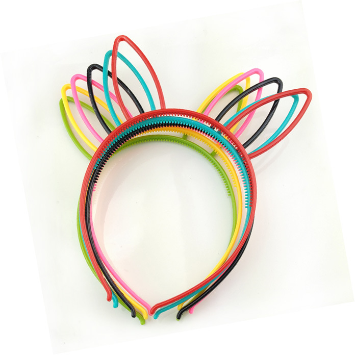 2019 Korean Hair Accessories Hair Band Rabbit Ears hairband Headdress Bezel   Headwear   With Teeth With Ears Headband Plastic