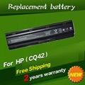 Batería del ordenador portátil para hp compaq notebook jigu mu06 batería 593553-001 593554-001 593554-001 envío gratis