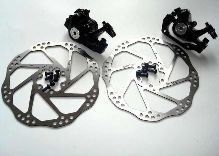 MTB Hydraulic Disc Brakes Front Rear Calipers Cycling 160//180mm Disc Brake Rotor