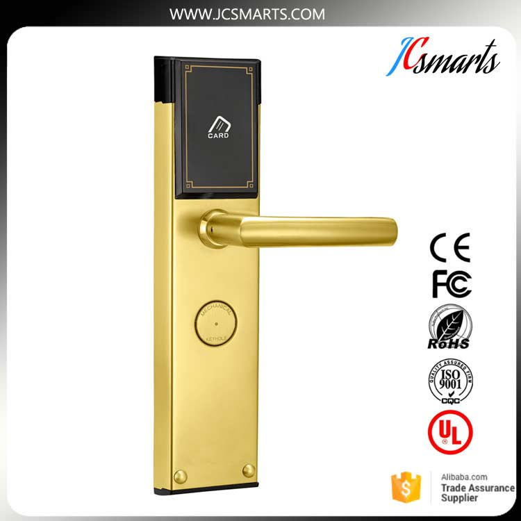 Good quality hotel electronic locks card door lock system with USA standard 5-lock Tongue Structure Lock Core korea digital door lock electric sliding door locks rfid electronic hotel lock using magnetic card