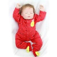 20 ''50 cm de Vinilo de Silicona Renacer Muñecas Del Bebé de la Princesa Durmiente Viva Piel suave Newborn Baby Doll Cumpleaños de La Muchacha de Regalos y Juguetes