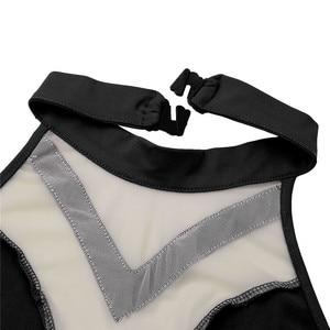 Image 3 - を内蔵したレディース非対称叙情的なダンスクロップトップショーツスカート衣装ホルターネック背中ダンスウエディングパフォーマンス