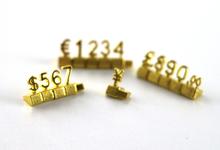 Luksusowe 3d regały metalowe regulowany metka z ceną ramki dźwiękowe cena wyświetlacz Euro funt cena liczb kostki montażu etykiety bloki trzymać tanie tanio Loripos WJ-7092302 iron CLASSIC Nieregularne